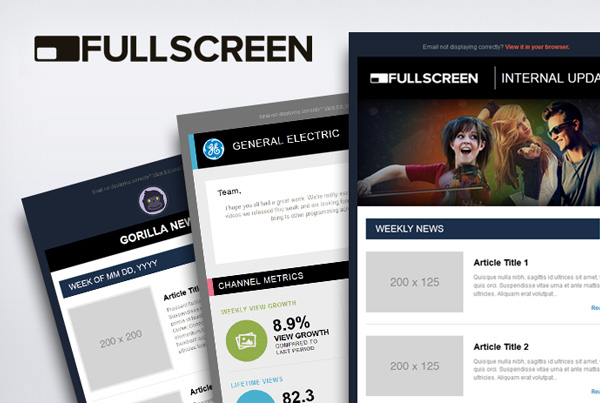 Fullscreen Newsletters