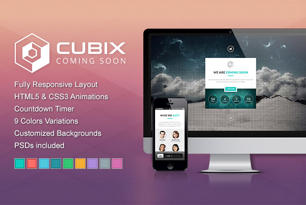 Cubix – 3D Coming Soon Template